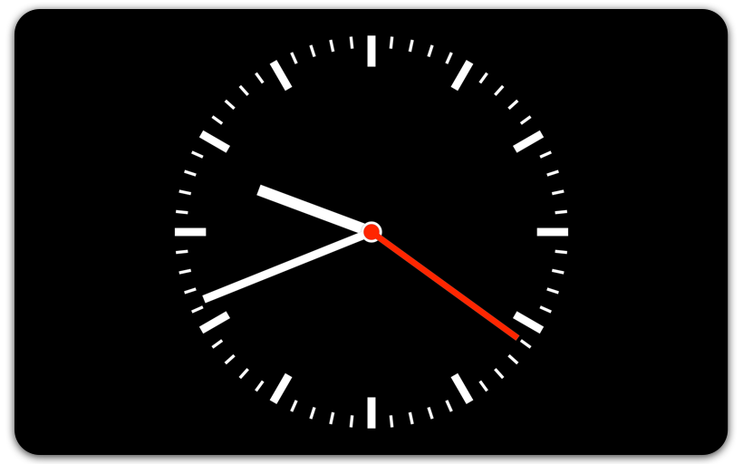 Clocksaver — Screenshot Displaying the Analog Clock